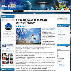 5 simple ways to increase self-confidence