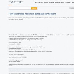 How to increase maximum database connections