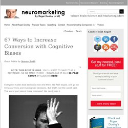 67 Ways to Increase Conversion with Cognitive Biases