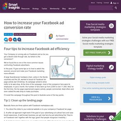 How to increase your Facebook ad conversion rate