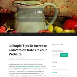 3 Simple Tips To Increase Conversion Rate Of Your Website
