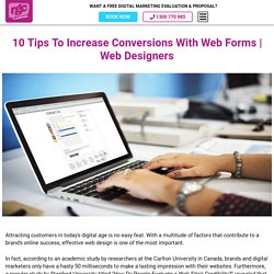 10 Tips To Increase Conversions With Web Forms