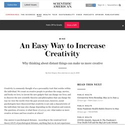 An Easy Way to Increase Creativity