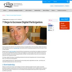 7 Steps to Increase Digital Participation