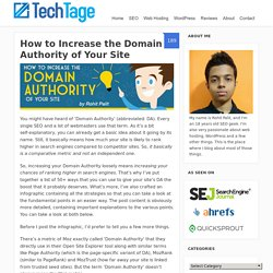 How to Increase the Domain Authority of Your Site