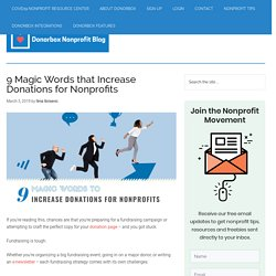 9 Magic Words that Increase Donations for Nonprofits