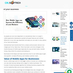 How Mobile Apps can Increase the Efficiency of your Business