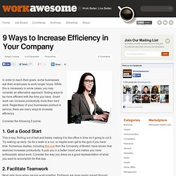 9 Ways to Increase Efficiency in Your Company