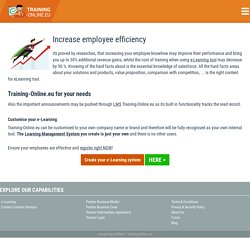 Increase employee efficiency with Training-Online.eu