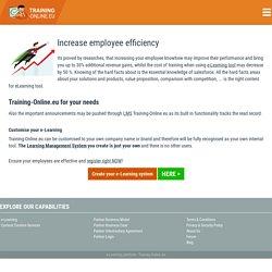 Increase employee efficiency with Training-Online.eu