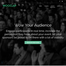 Wooclap - Increase engagement during events, meetings and in the classroom