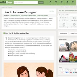 How to Increase Estrogen: 9 Steps