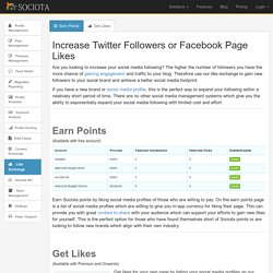 Increase Twitter Followers or Facebook Page Likes - Sociota