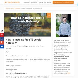 How to Increase Free T3 Levels Naturally: Step by Step