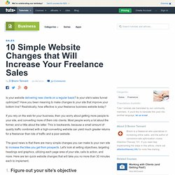 10 Simple Website Changes to Increase Your Freelance Sales