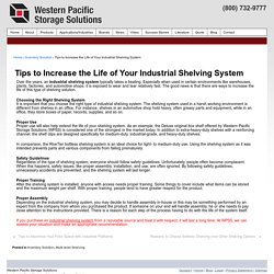 Tips to Increase the Life of Your Industrial Shelving System - Western Pacific Storage Solutions