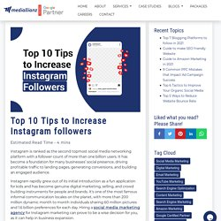 Top 10 Tips to Increase Instagram followers