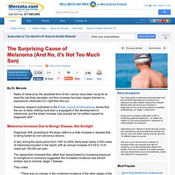 Increase in Deadly Melanoma Not Due to Sun Exposure