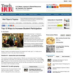 Top 12 Ways to Increase Student Participation
