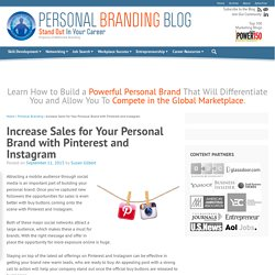 Increase Sales for Your Personal Brand with Pinterest and Instagram