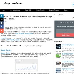 Top Free SEO Tools to Increase Your Search Engine Rankings