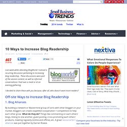 10 Ways to Increase Blog Readership