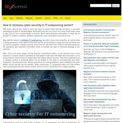 How to increase cyber security in IT outsourcing sector?
