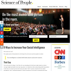9 Ways to Increase Your Social Intelligence