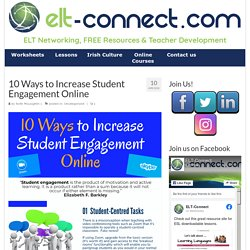 10 Ways to Increase Student Engagement Online