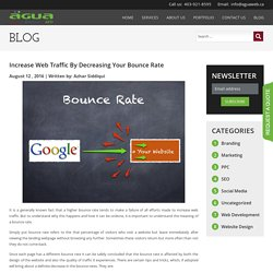 Increase Web Traffic By Decreasing Your Bounce Rate