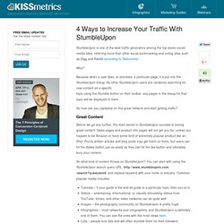 4 Ways to Increase Your Traffic With StumbleUpon