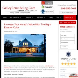 Increase Your Home's Value With the Right Exterior Color