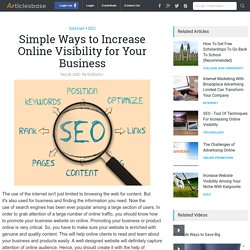 Simple Ways to Increase Online Visibility for Your Business