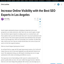 Increase Online Visibility with the Best SEO Experts in Los Angeles