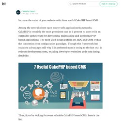 Increase the value of your website with these useful CakePHP based CMS