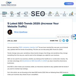 5 Latest SEO Trends 2020: (Increase Your Website Traffic)