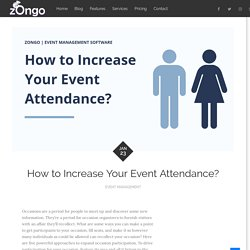 How to Increase Your Event Attendance?
