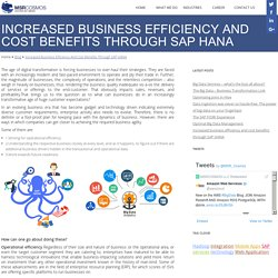 Increased business efficiency and cost benefits through SAP HANA