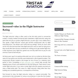 Increased value in the Flight Instructor Rating - Tristar Aviation
