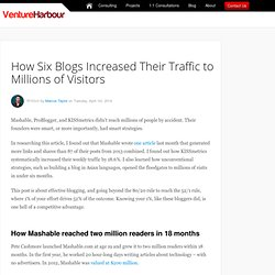 How Six Blogs Increased Their Traffic to Millions of Visitors