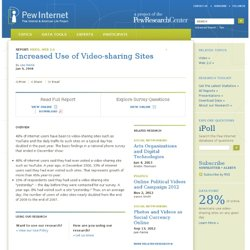 Pew Internet: Video sharing