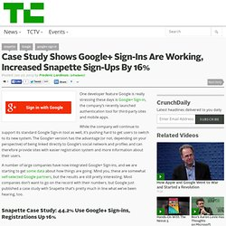 Case Study Shows Google+ Sign-Ins Are Working, Increased Snapette Sign-Ups By 16%
