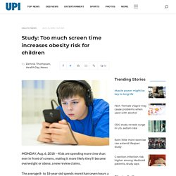 Study: Too much screen time increases obesity risk for children