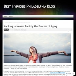Smoking Increases Rapidly the Process of Aging