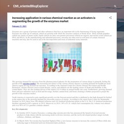 Increasing application in various chemical reaction as an activators is augmenting the growth of the enzymes market