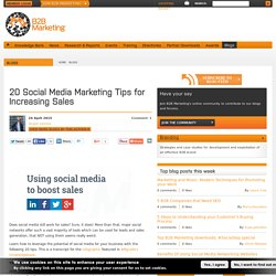 20 Social Media Marketing Tips for Increasing Sales