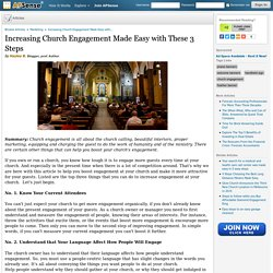 Increasing Church Engagement Made Easy with These 3 Steps by Hayley B.