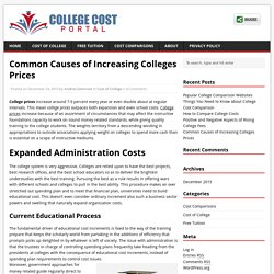 Common Causes of Increasing Colleges Prices