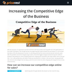 Increasing the Competitive Edge of the Business