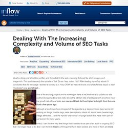 The Increasing Complexity of the Organic SEO Task List for 2012 & 2013